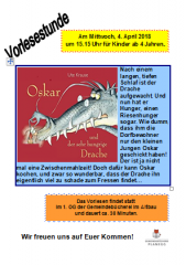 Vorlesestunde April 2018